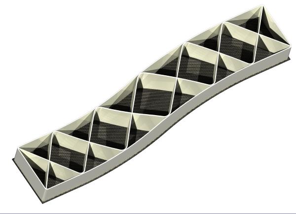 Prototype hybride en fibres de carbone