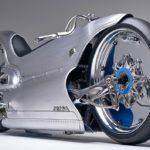 Une moto électrique futuriste alliant impression 3D et procédés classiques