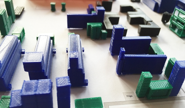 mobilier pour maquette imprimé en 3D