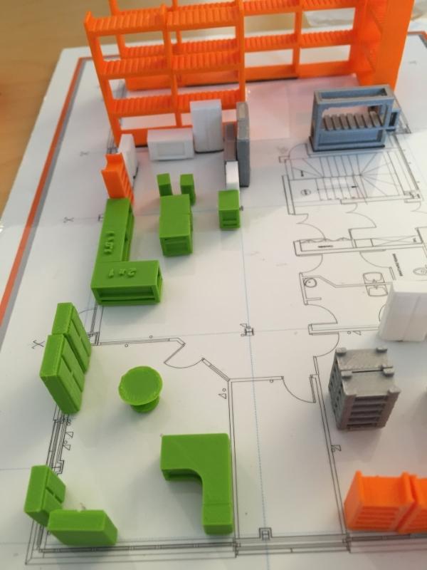 plan réalisé par impression 3D