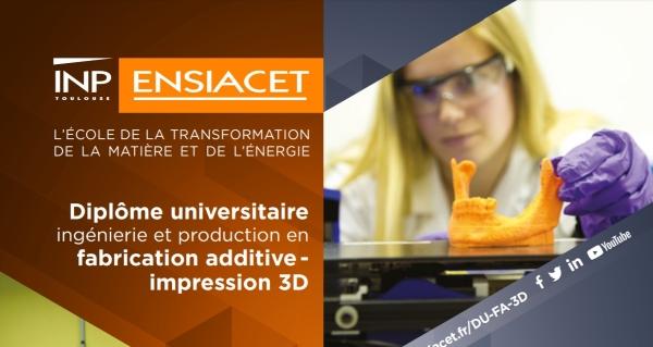 Un nouveau diplôme universitaire pour se former à l'impression 3D