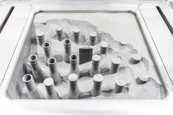 impression de composants sur une poudre métallique d'EOS