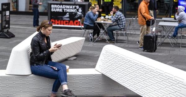 Un banc en béton imprimé en 3D pour protéger les piétons des attaques terroristes