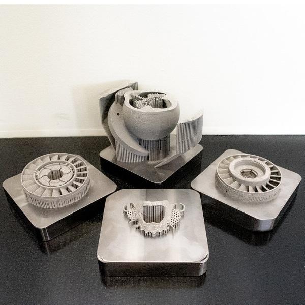 pièces imprimées en 3D sur la RMP1