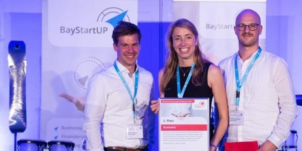 Kumovis remportant le BayStartUP Businessplan en 2018 © Sebastian