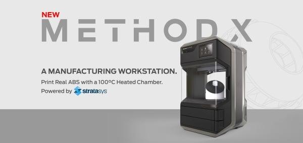 Method X : une imprimante 3D de bureau pour imprimer de l'ABS de qualité production
