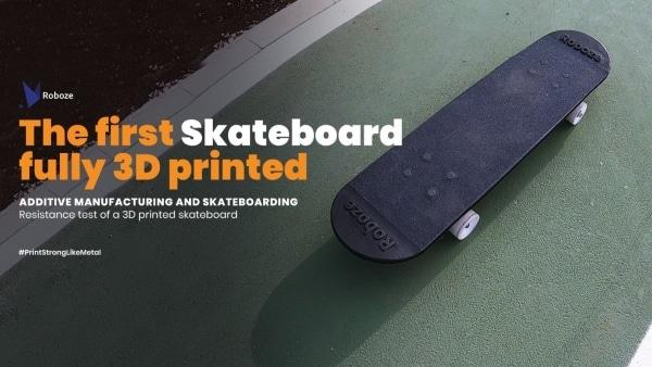 skateboard entièrement imprimé en 3D