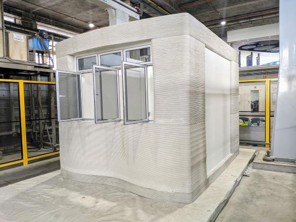 logement en béton imprimé en 3D