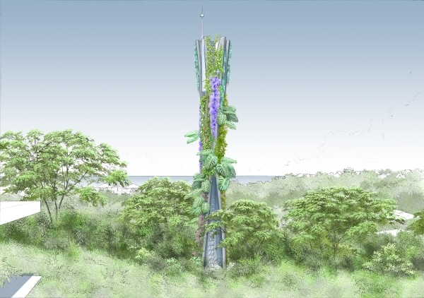structure télécoms imprimées en 3D végétalisées
