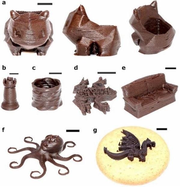 impression 3d de chocolat selon la méthode Ci3DP