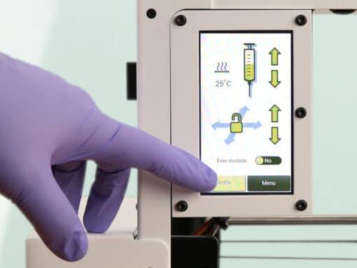 écran de l'imprimante 3D LulzBot Bio