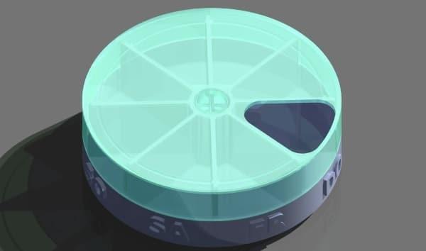 Pilulier imprimé avec filament PLACTIVE AN3