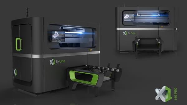 ExOne présente son plus grand système d'impression 3D à jet de liant pour le métal