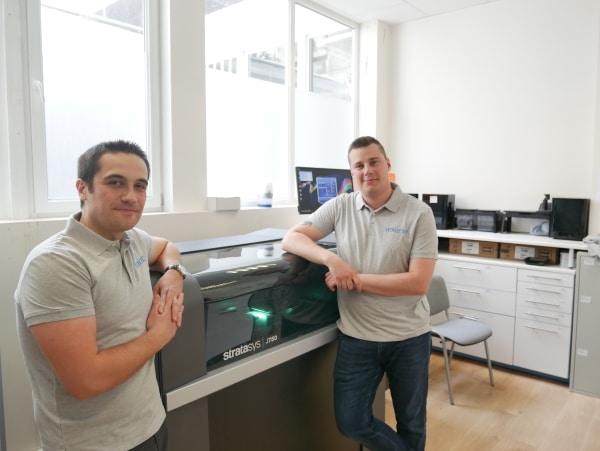 Jérémy Adam (président de Bone 3D) et Jonas Kosior (responsable de production). Crédit: Bone 3D.