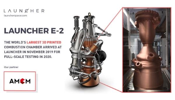 Launcher annonce le premier test à grande échelle de son moteur-fusée imprimé en 3D