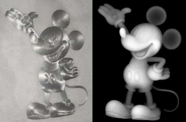 lithophanie de Mickey