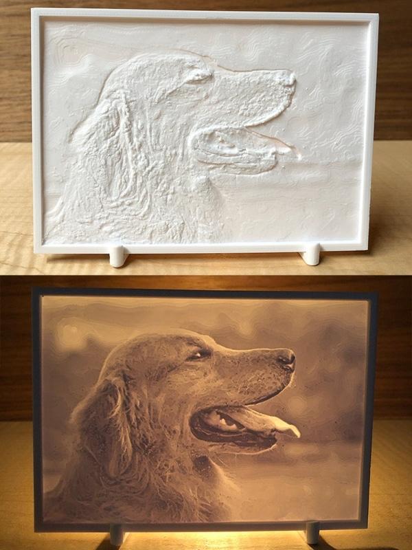 litographie 3D d'un chien