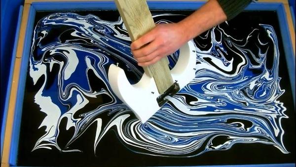 Technique du Swirling sur une guitare