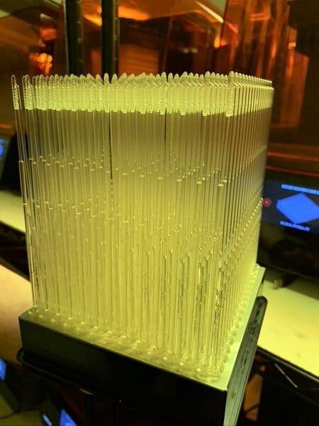 écouvillon imprimé par Formlabs