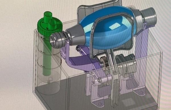 modèle 3D de respirateur