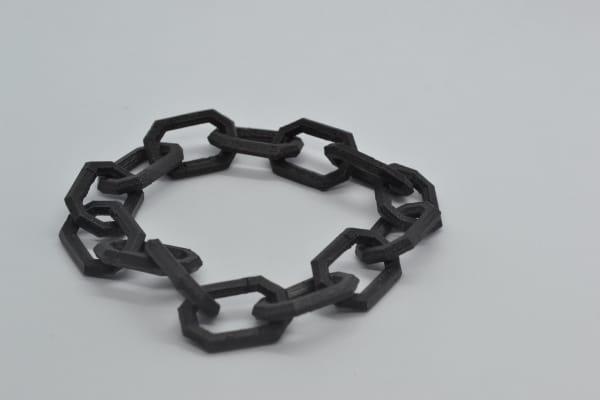 chaine imprimée en inox