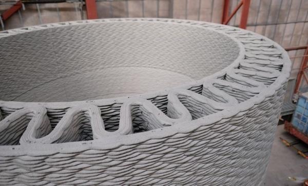 mât fabriqué par impression 3D