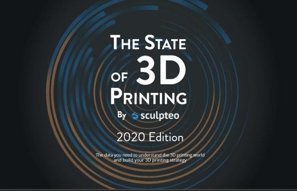 La production de pièces finies par impression 3D se confirme dans la dernière étude de Sculpteo