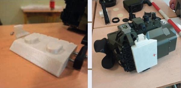 support de caméra thermique fabriquée par impression 3D