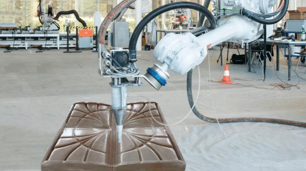 système d'impression 3d béton à bras robotique