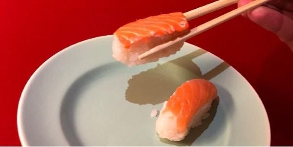 saumon imprimé en 3D et conventionnel