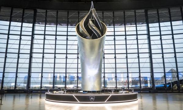 Une torche de 28 m imprimée en 3D pour un stade de football américain
