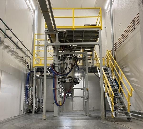 Unité de production de poudres métalliques