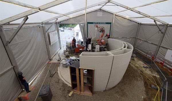 « Sphère » : une loge de gardien imprimée en 3D par Bouygues Construction