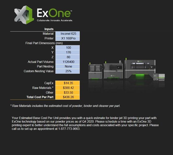 estimation coût d'impression 3D