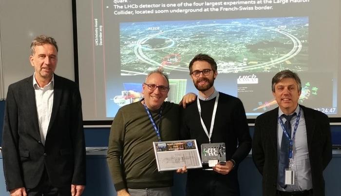 Pour sa contribution réussie, 3D Systems a reçu le prix de l'industrie LHCb 2019.