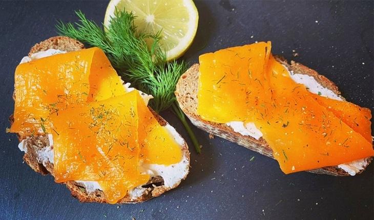 Revo Foods organise une dégustation de son saumon végétal imprimé en 3D