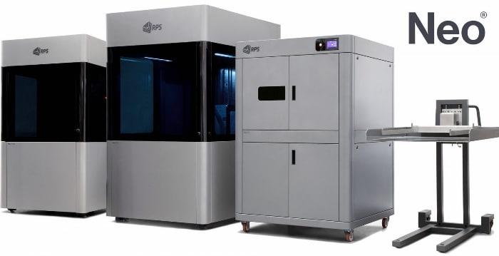 Gamme d'imprimantes 3D SLA proposée par RPS