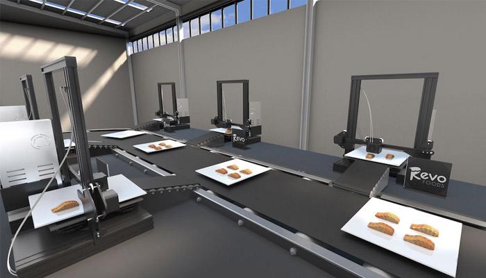Illustration de la ligne de production que souhaiterait mettre en place Revo Foods