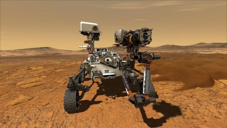 Le Rover Perseverance de la NASA équipé de 11 pièces métalliques imprimées en 3D