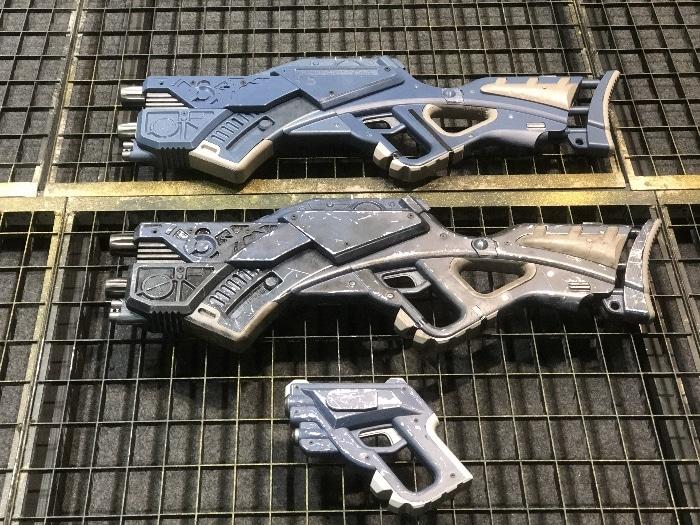 Les différentes armes imprimées pour le film