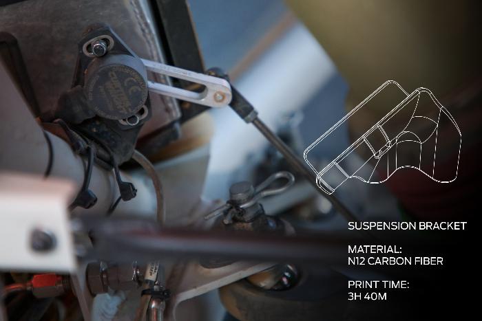 support imprimé en 3D pour un capteur de position de suspension