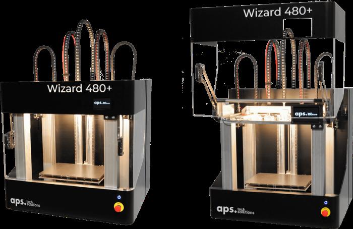Wizard 480+ : une imprimante 3D à 4 têtes pour les matériaux haute performance