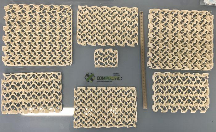 Panneaux PHA imprimées en 3D par ComposiTIC