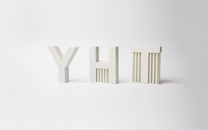 Illustration des structures de support nécessaires pour imprimer un Y, H & T en FDM