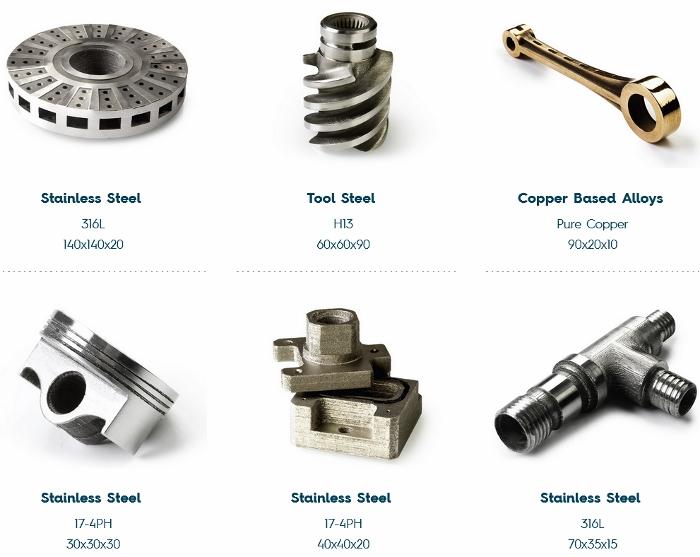 La technologie MoldJet® offre une large gamme de matériaux métalliques