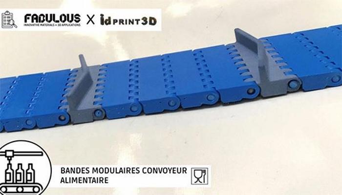BLUECARE utilisé par IDPrint 3D pour réaliser un convoyeur de 30 centimètres.