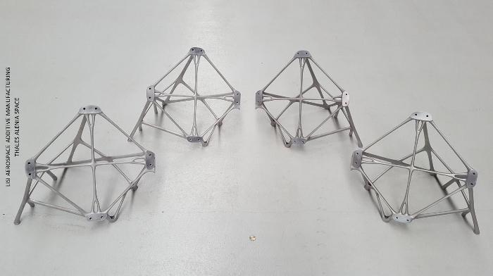 Supports de roue à inertie imprimées en aluminium