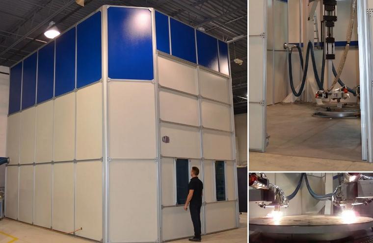 DM3D lance une imprimante 3D métal géante pour des pièces de 3 mètres