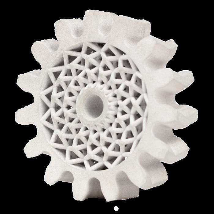 Impression d'un engrenage à chevron en 4140 optimisée grâce la fabrication additive