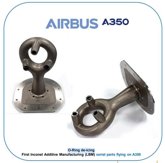 Pièce de vol O-ring imprimée pour l'A350